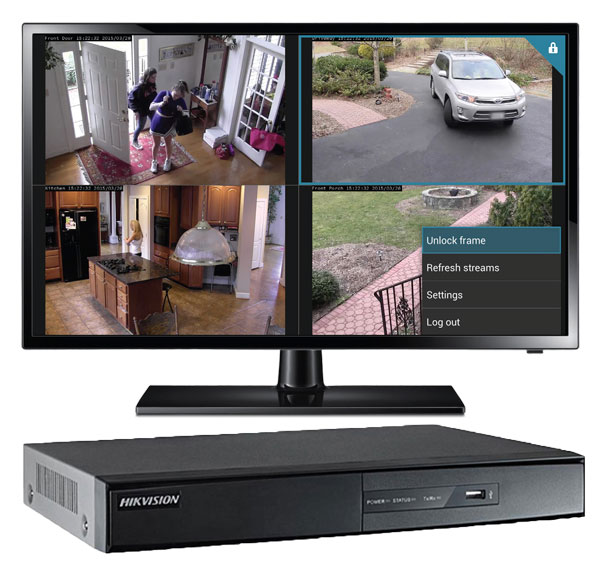 DVR with real time camera monitoring