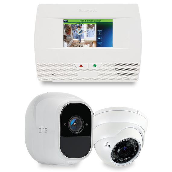 Home Shield Alarm security panel and camera package